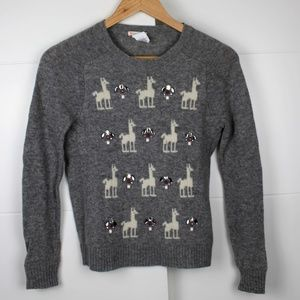J Crew Crewcuts Size 14 Girls jewel llama sweater